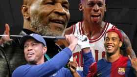 Mike Tyson, Tiger Woods, Dennis Rodman y Ronaldinho