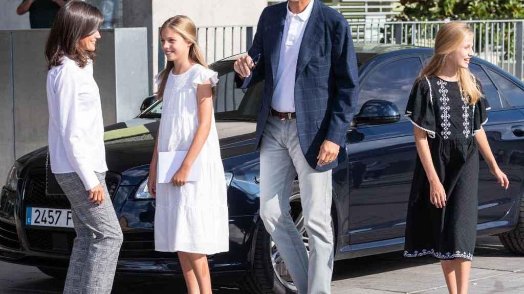 La Familia Real junto con el Audi RS 6 en una foto de archivo.
