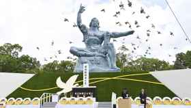 Acto celebrado en Nagasaki en memoria de las víctimas, en el 75 aniversario de la tragedia.