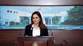 Manal Abdel Samad, ministra de Información del Líbano, en una imagen de archivo.