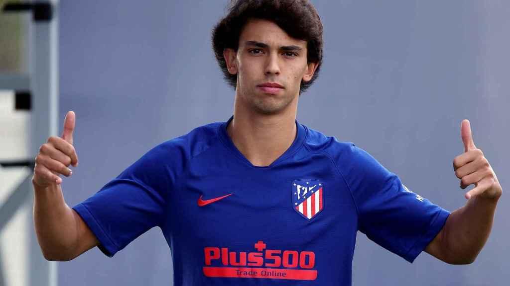 Joao Felix, en un entrenamiento del Atlético de Madrid