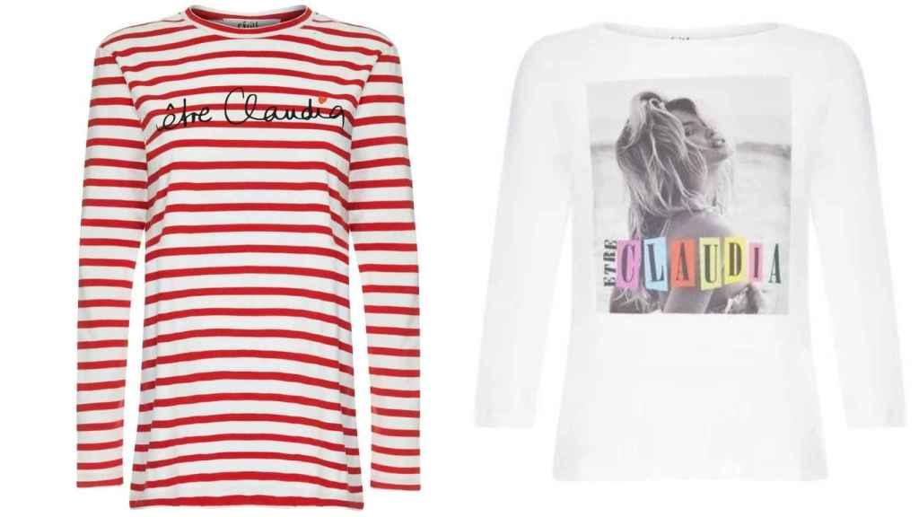 Dos de los diseños de la nueva colección cápsula de Claudia Schiffer.