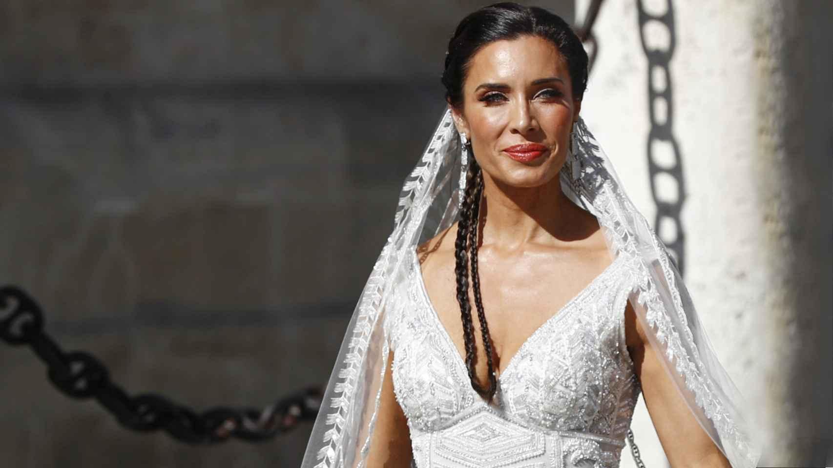 Pilar Rubio, el día de su boda, con un diseño de Zuhair Murad.