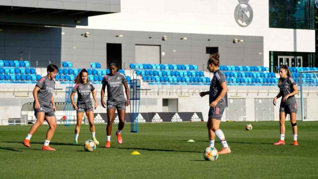 Marta Corredera, durante un entrenamiento del Real Madrid Femenino