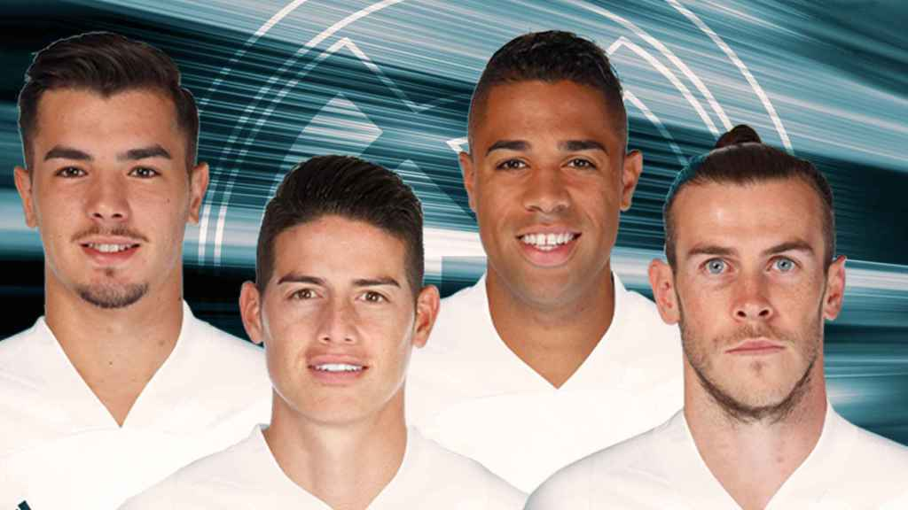 Brahim, James, Mariano y Bale