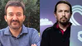 José Manuel Calvente, excoordinador del equipo legal de Podemos, y Pablo Iglesias, líder del partido.