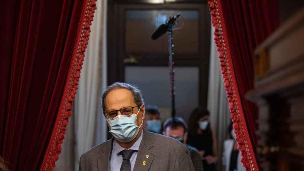 Quim Torra acude a un pleno de control al Gobierno de la Generalitat.