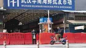 El mercado de mariscos Huanan, en Wuhan, en el centro de China.