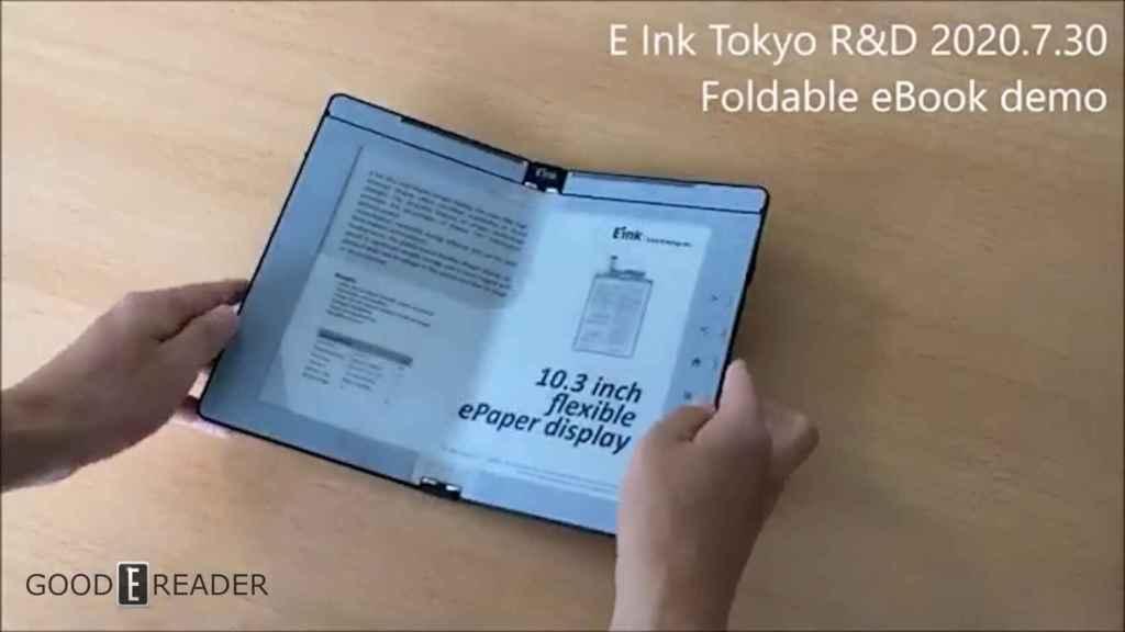La nueva pantalla de tinta electrónica plegable