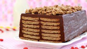 Receta tarta de galletas y chocolate de la abuela