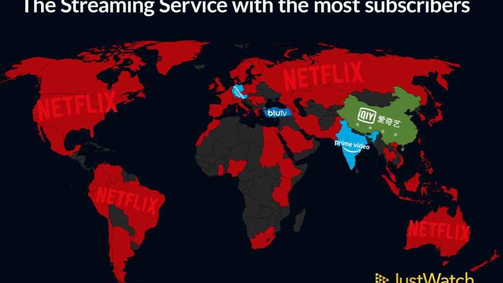 Mapa del mundo por plataformas.