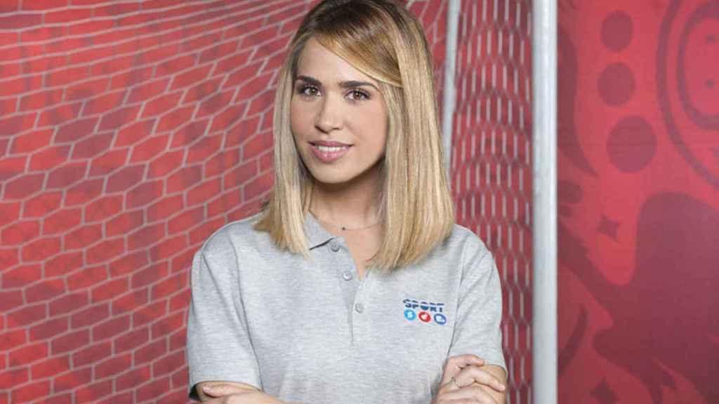 María fue la enviada especial de Mediaset al Mundial de Rusia en 2018.