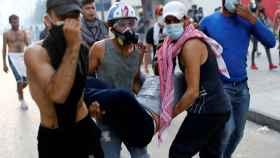 Las protestas sociales tras la explosión en Beirut.