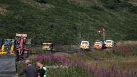 La columna de humo provocada por el accidente de tren, en imágenes de la BBC.