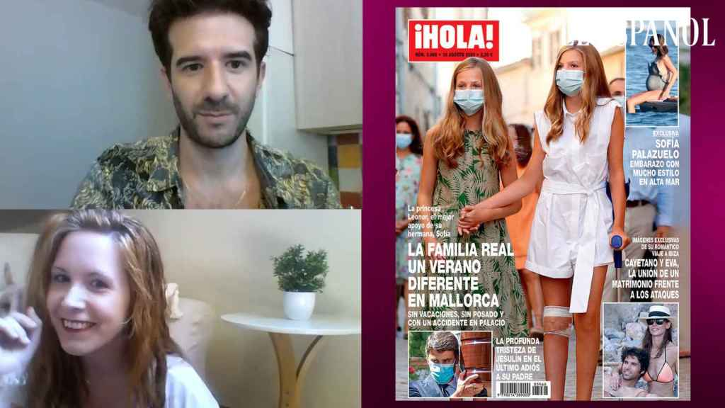 Raúl Rodríguez y Ane Olabarrieta en el kiosco rosa, en vídeo.