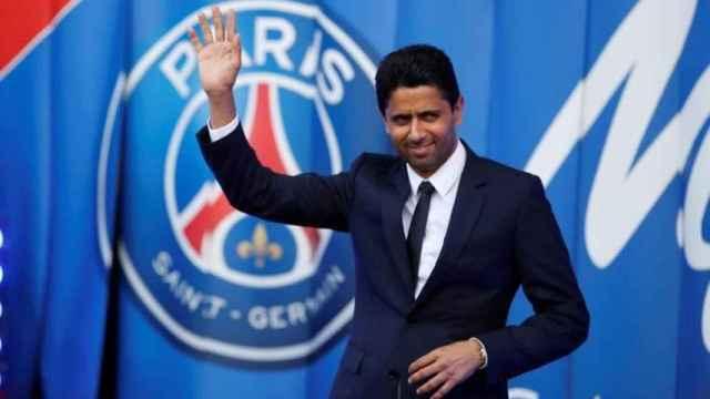 Al-Khelaifi, jeque del PSG, salundando
