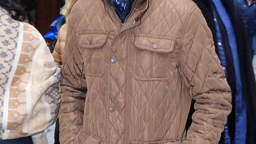 Antonio Carrasco, 'El Junco', en el entierro de Chiquetete.