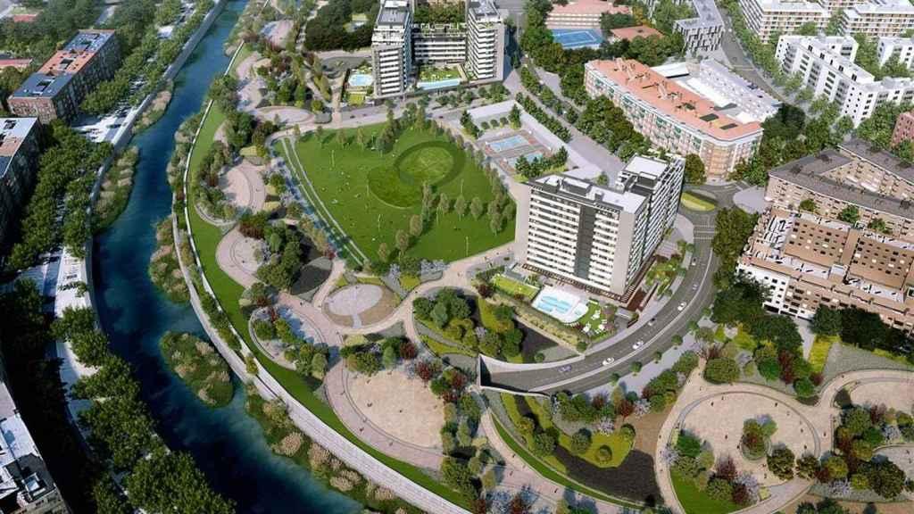 Imagen de la promoción River Park en Madrid Río.