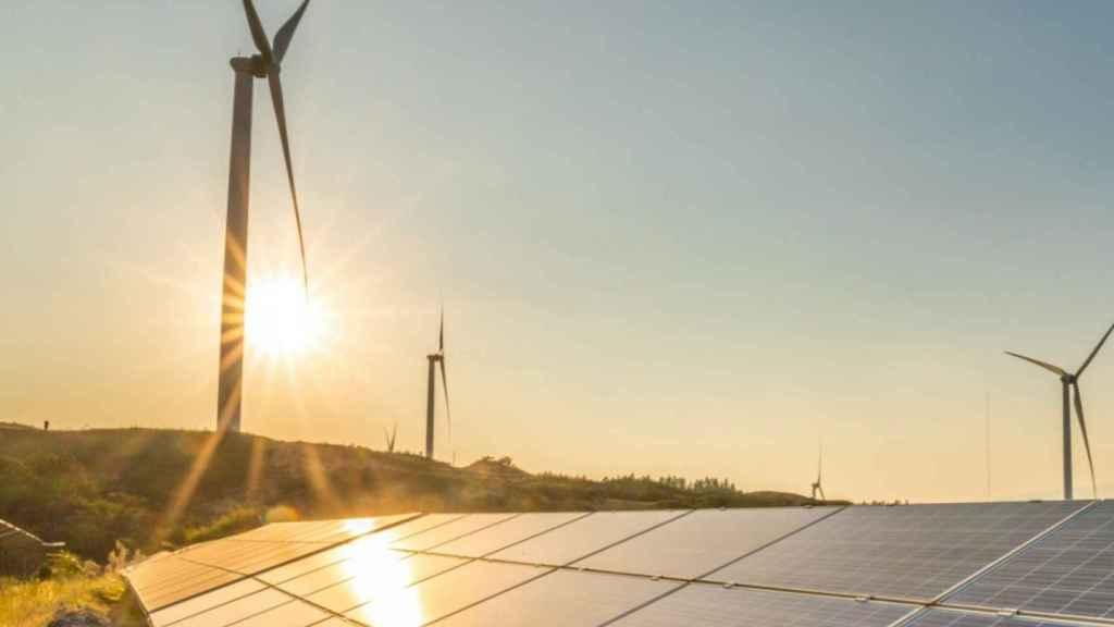 Un parque de energías renovables en una imagen de archivo.