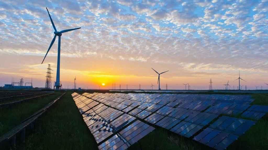 Un parque de generación de energías renovables.