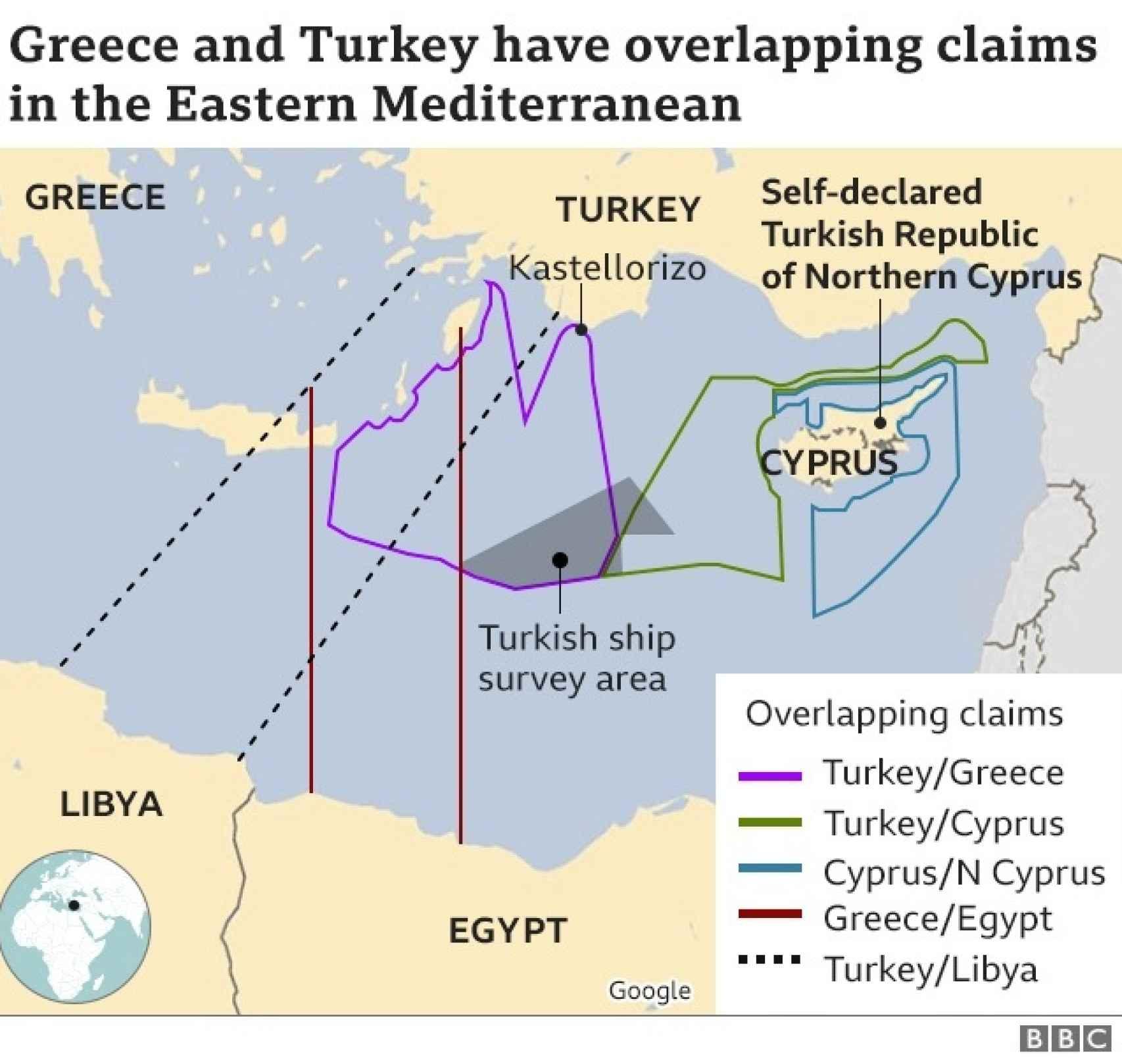 mapa de los dominios en el Mediterráneo