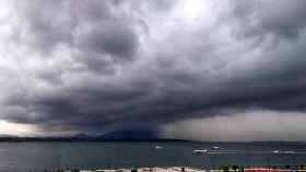 Nubes de tormenta en la Bahía de Santander.