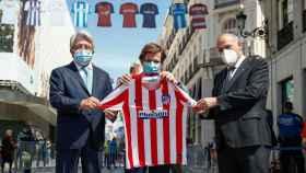 Enrique Cerezo, Martínez-Almeida y Javier Tebas
