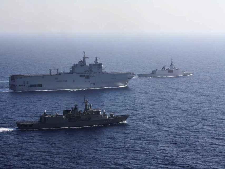 Maniobras militares de la UE en el este del Mediterráneo. Greek National Defence.