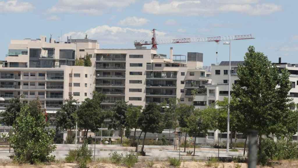 Edificio en construcción en Madrid (España).