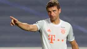 Thomas Muller celebra uno de los goles ante el Barça