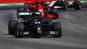 Lewis Hamilton, en el GP de España
