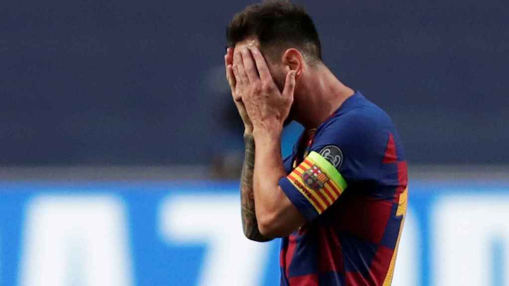 Leo Messi, durante el Barcelona - Bayern Múnich de la Champions League 2019/2020