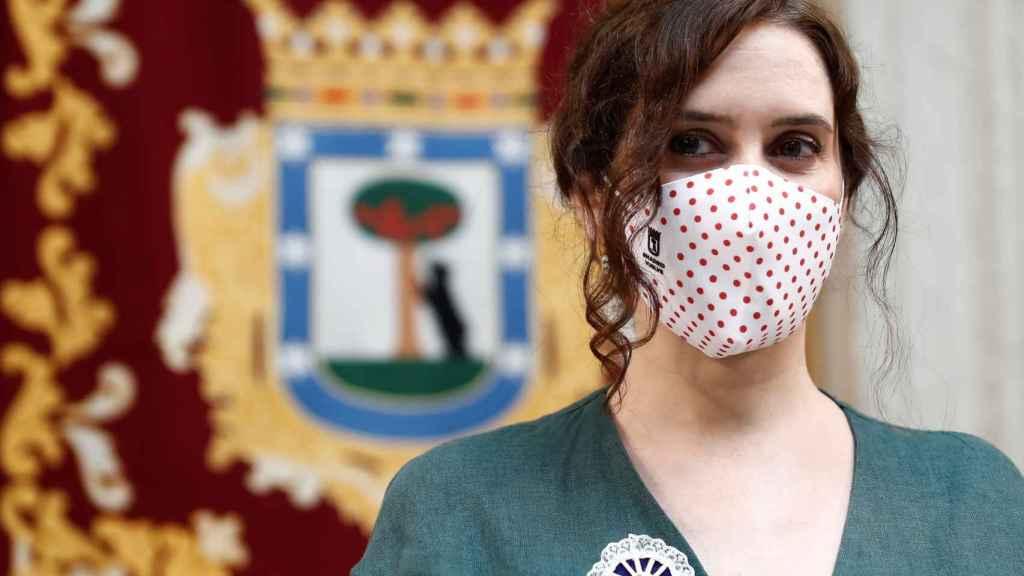 La presidenta de Madrid, Isabel Díaz Ayuso, en los actos de la festividad de la Virgen de la Paloma.