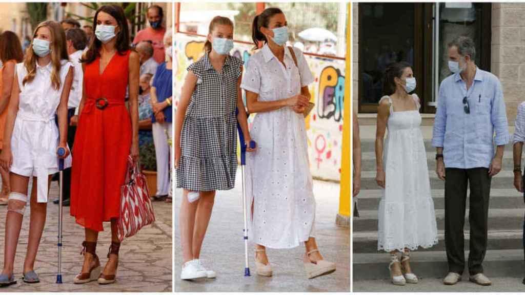 Los tres estilismos que ha lucido la Reina en Baleares.