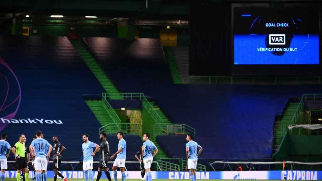 El estadio José Alvalade durante el Olympique de Lyon - Manchester City