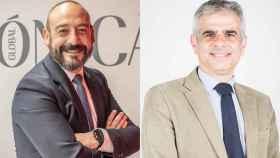 El eurodiputado Jordi Cañas a la izquierda, y el diputado de Cs, Carlos Carrizosa, a la derecha.