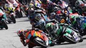 Jorge Martín liderando la carrera de Moto2 del Gran Premio de Austria
