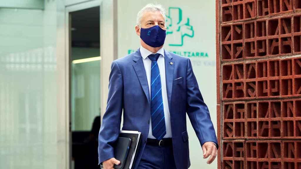 El lehendakari en funciones, Iñigo Urkullu, se dirige al Parlamento Vasco.