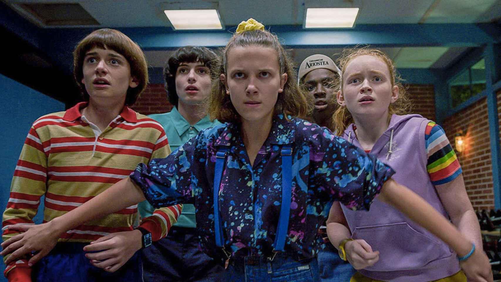 Fotograma de Stranger Things, una de las series con mayor tirón de Netflix.