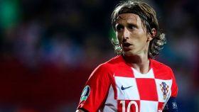 Luka Modric, con la selección de Croacia