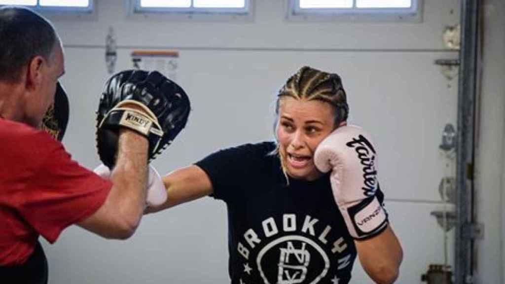 Paige VanZant, durante un entrenamiento. Foto: Instagram (@paigevanzant)