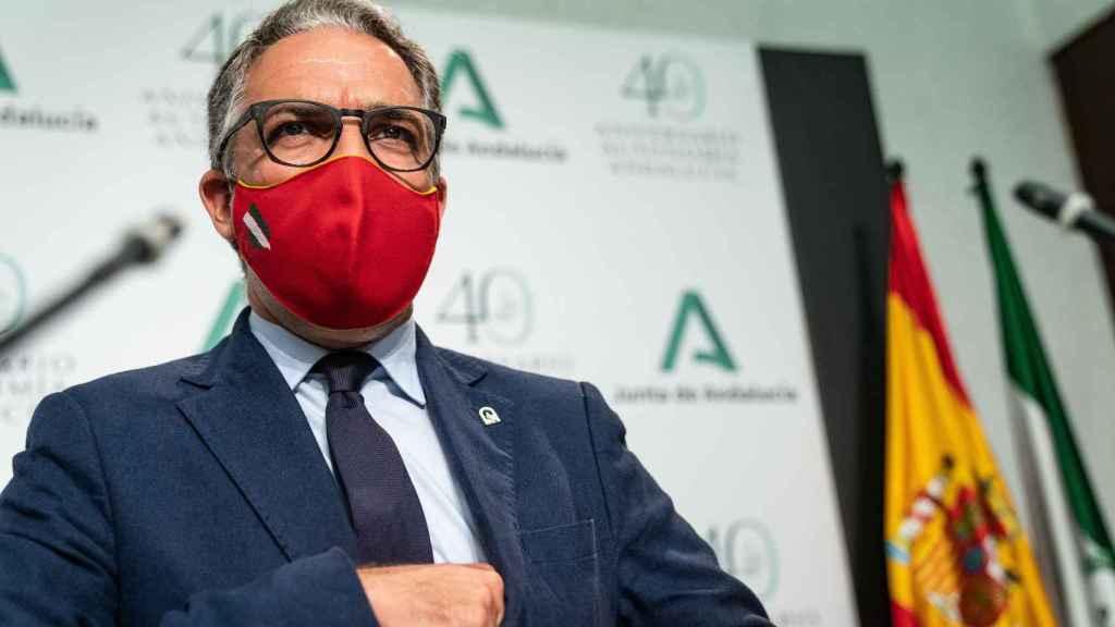 El consejero de Presidencia y portavoz, Elías Bendodo.