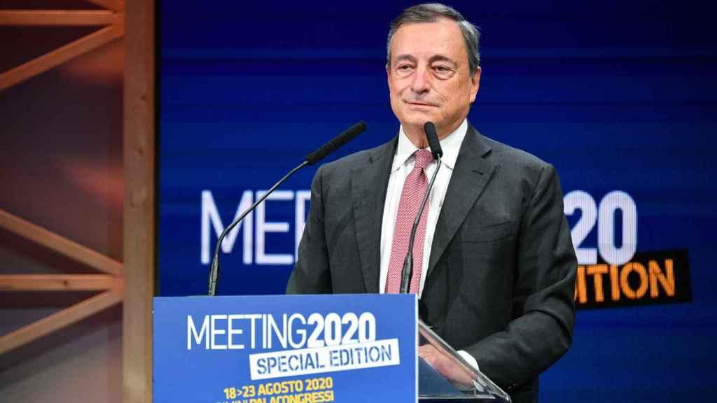 El expresidente del Banco Central Europeo (BCE), Mario Draghi, durante la apertura del Meeting Rimini 2020.