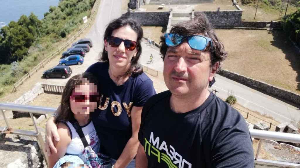 Ana Belén, Miguel y sus hijos.