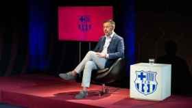 Josep María Bartomeu, durante la entrevista en BarçaTV