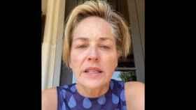 Sharon Stone en uno de sus vídeos en Instagram.