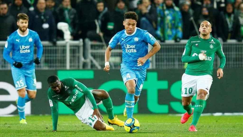 Partido entre Olympique Marsella y Saint Etienne