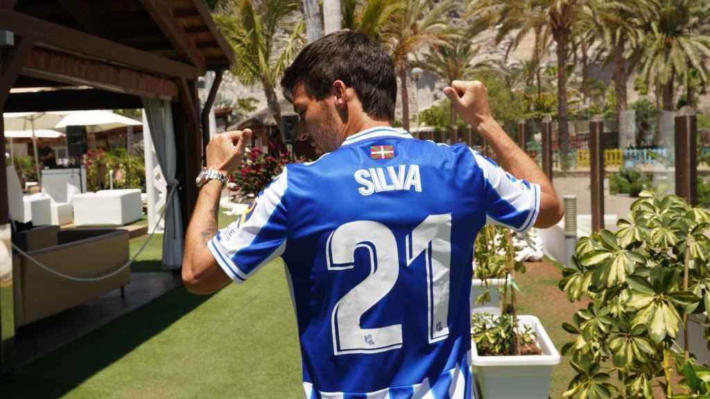 David Silva, con el '21' de la Real Sociedad