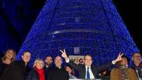 Angel Caballero, alcalde de Vigo, en una foto de las navidades pasadas.