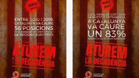 Carteles utilizados por Societat Civil Catalana para su campaña.